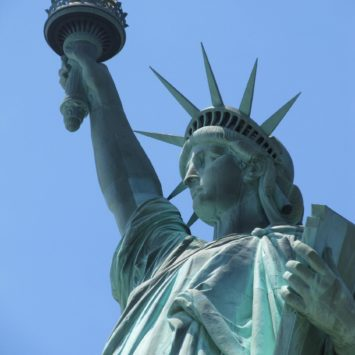 Visiting the Statue of Liberty in NYC